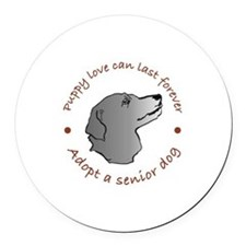 Unique Adopted dog Round Car Magnet