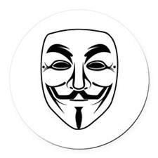 Anonymous Mask Round Car Magnet