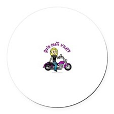 Custom Biker Round Car Magnet