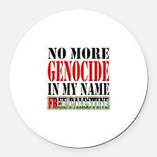 No More Genocide Round Car Magnet