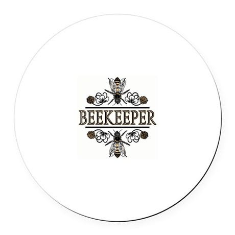 The Beekeepers! Round Car Magnet