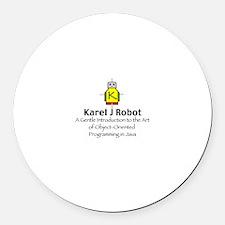 Karel J Robot Round Car Magnet