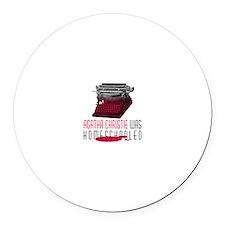 Agatha Round Car Magnet