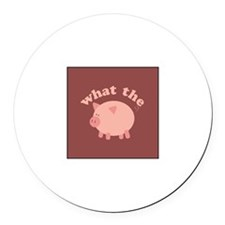 What the Heo Round Car Magnet