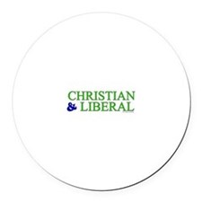Christian and Liberal Round Car Magnet