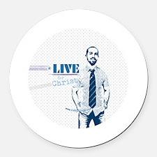 LIVE for Christ Round Car Magnet (48 pk)