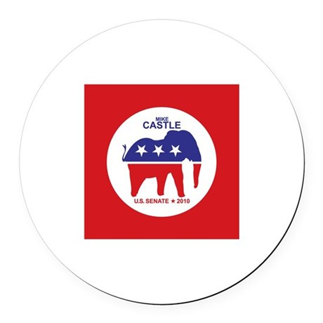 Mike Castle Round Car Magnet