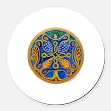 Tree of Life Cross MandalaRound Car Magnet