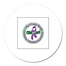 Unique Arnold chiari malformation Round Car Magnet
