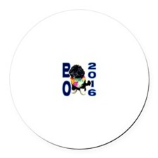 BO OBAMA 2016 - Round Car Magnet