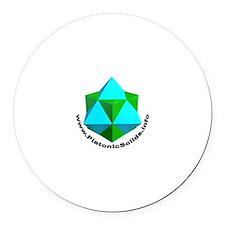 Cube-Octa Round Car Magnet