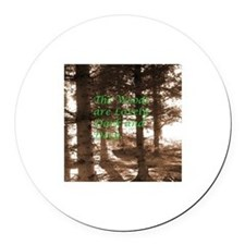 Robert Frost Round Car Magnet