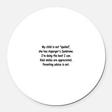 Asperger's (2) Round Car Magnet