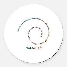 Namaste Round Car Magnet