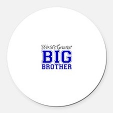 World's Greatest Big Brother Round Car Magnet