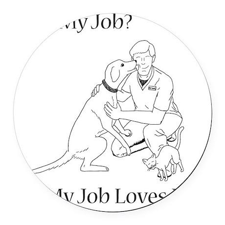 Veterinary Technician Design Round Car Magnet
