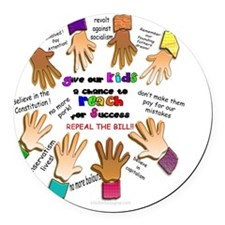 Give our Kids a Chance at Suc Round Car Magnet
