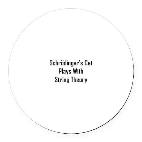Schrodinger's Cat Plays Round Car Magnet