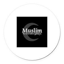 """Muslim"" Round Car Magnet"