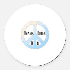 Obama/Biden 08 Round Car Magnet
