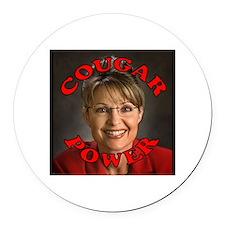"Sarah Palin ""Cougar Power"" Round Car Mag"
