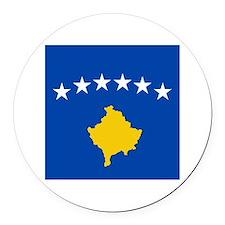 Kosova's New Flag! Round Car Magnet