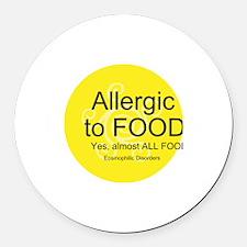 Cute Allergy Round Car Magnet