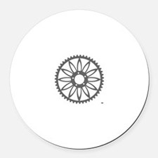 Flower Chainring Round Car Magnet rhp3