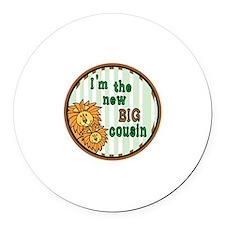 lion cousins Round Car Magnet