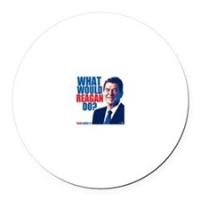 What Would Reagan Do? Design Round Car Magnet