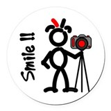 Photographer Round Car Magnets