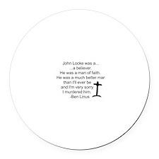 Ben's Words 4 Locke / Round Car Magnet