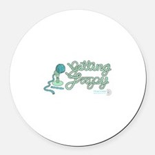 Getting Loopy! Round Car Magnet