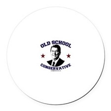 Old School Conservative Round Car Magnet