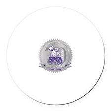 SPCA of Texas 70th Anniversary Round Car Magnet