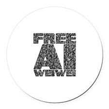Free Ai Weiwei Round Car Magnet