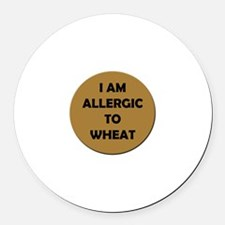 Wheat Allergy Round Car Magnet