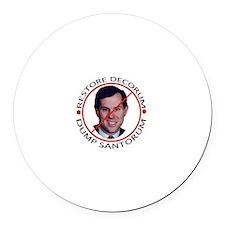 Dump Santorum Round Car Magnet