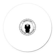 Funny Scientology Round Car Magnet