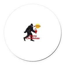 Bigfoot believes in Santa Claus Round Car Magnet