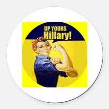 Up Yours Hillary Round Car Magnet