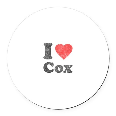 I Love Cox Round Car Magnet