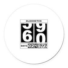 60th Birthday Oldometer Round Car Magnet