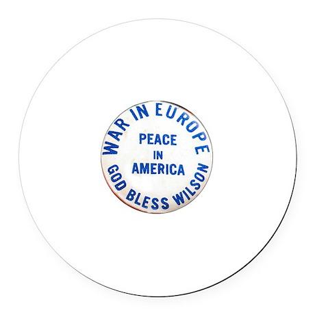 Woodrow Wilson - Round Car Magnet