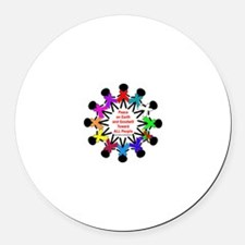 Peace On Earth Round Car Magnet