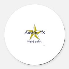 Austin is Weird Round Car Magnet