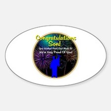 Graduation: 0003d Sticker (Oval)