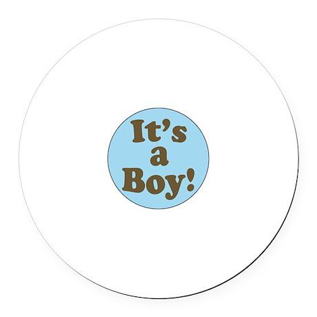 It's a Boy Round Car Magnet