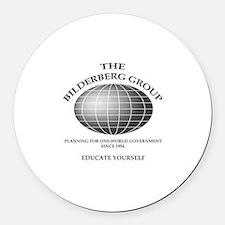 Bilderberg Global Round Car Magnet