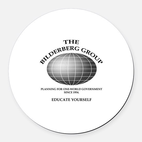 Bilderberg Global Round Car Magnet